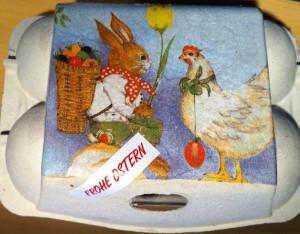 Ostern Eierschachtel Serviettentechnik