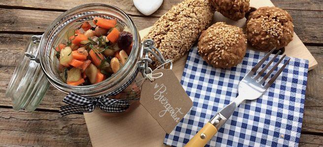 Kicherbsen Biergarten Salat glutenfrei