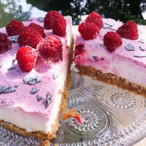 In bake cake Cheesecake glutenfrei Himbeeren