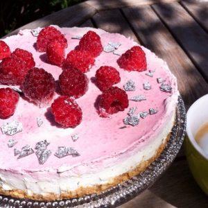 No bake Cake glutenfrei Himbeeren Cheescake