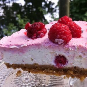 No bake Cake glutenfrei Himbeeren