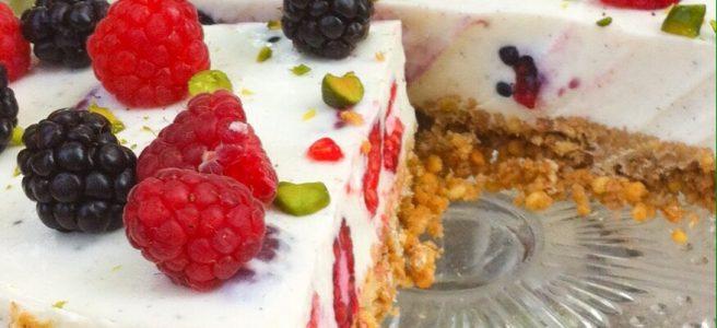 No bake Cake glutenfrei Himbeeren Brombeeren