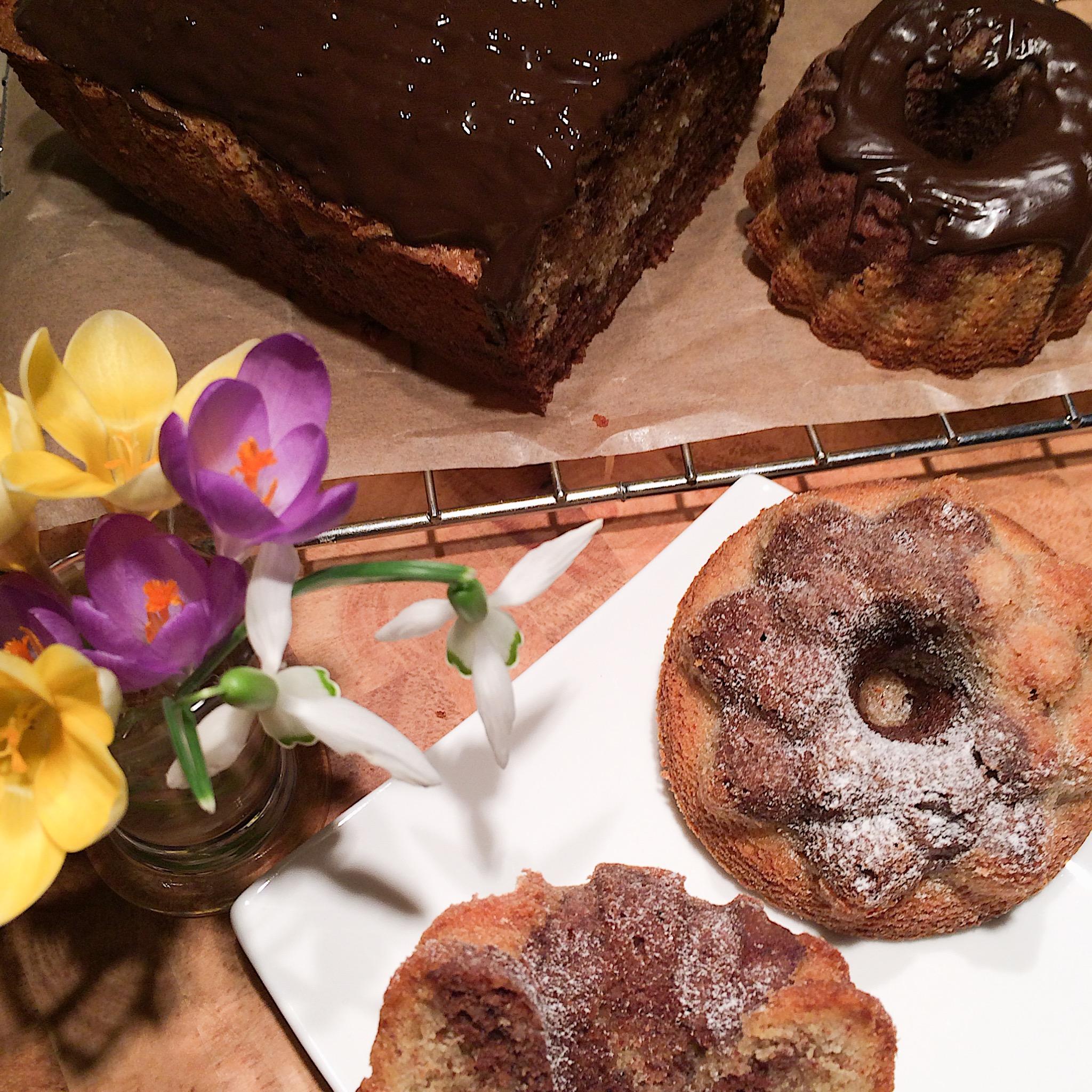 Marmorkuchen In Kastenform Oder Mini Gugl Glutenfrei Saftig
