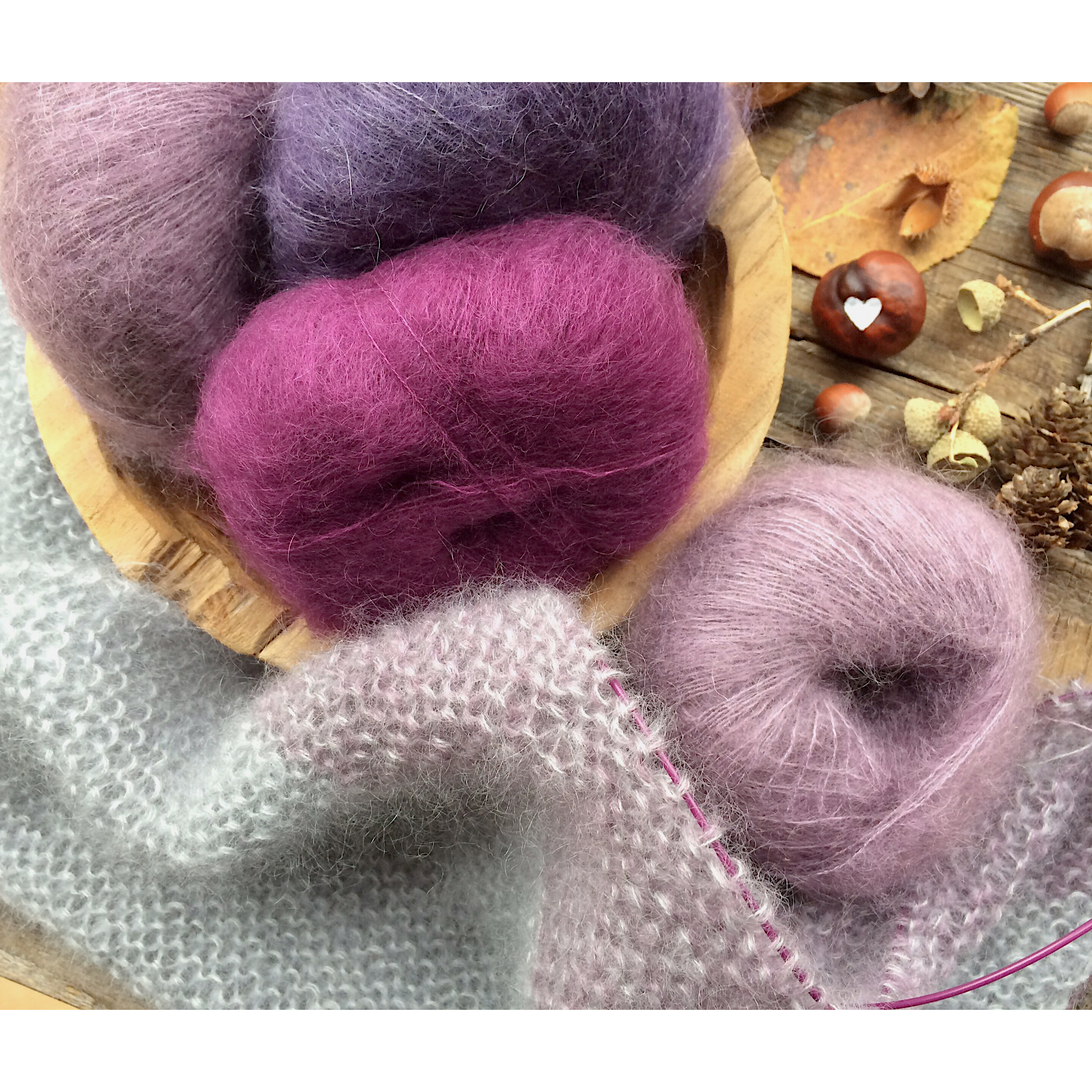 Easy Dreieckstuch Silkycloud à La Knit Knit Berlin Stricken