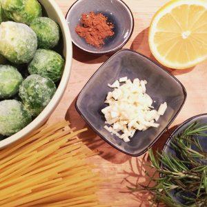 Spaghetti mit Rosenkohl Schär glutenfrei Rezept