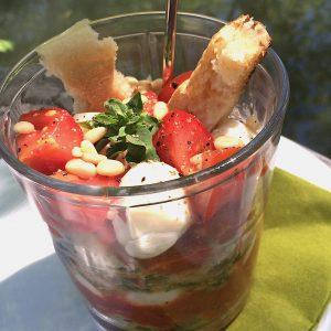 Tomaten Mozzarella tiramisu glutenfrei