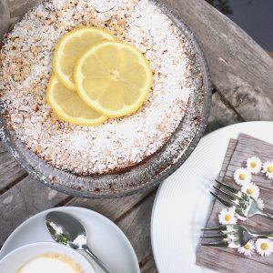 Mandel Zitronen Kuchen Mit Weisser Schokolade Glutenfrei Mit
