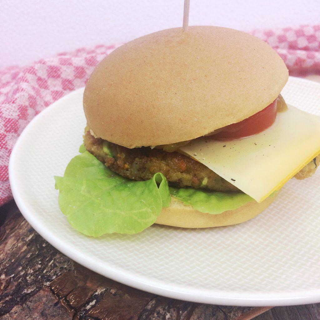 Kichererbsen Bratling für Burger glutenfrei