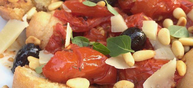 Sommersalat glutenfrei Tomaten Brot