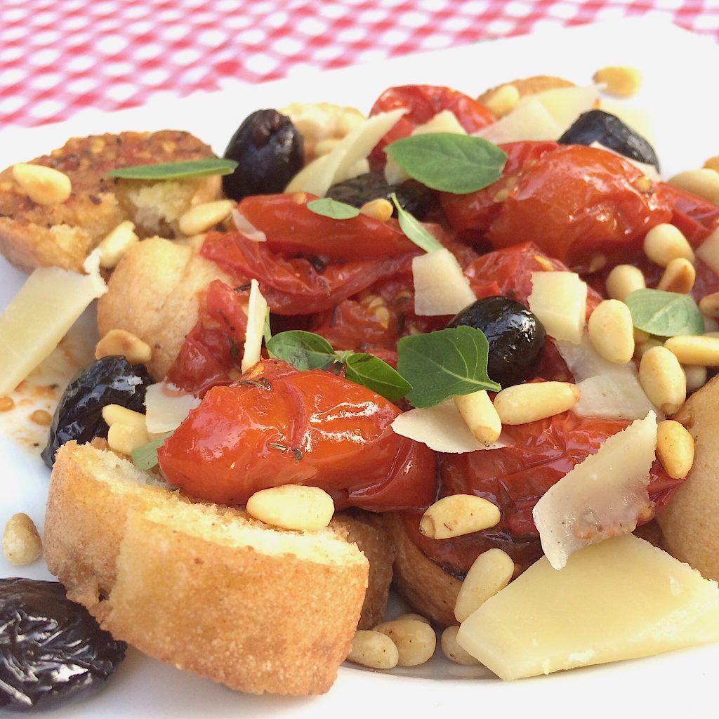 Sommersalat glutenfrei Tomaten-Brotsalat