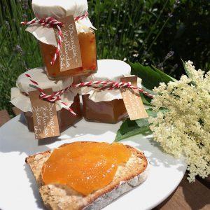 Orangen-Holunder-Gelee Chili Holunderblüten