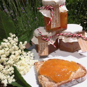 Orangen-Holunder-Gellee Chili Holunderblüten