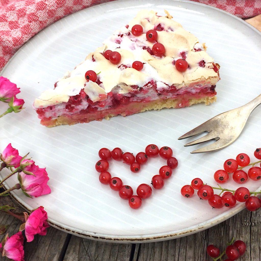 Johannisbeer Kuchen mit Baiser glutenfrei Rezept