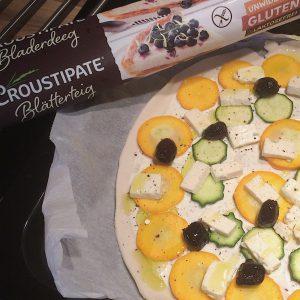 Croustipate Blätterteig glutenfrei Zucchinitarte
