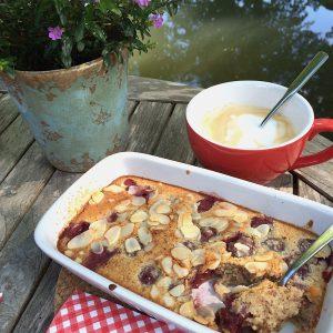 Clafoutis Kirschen glutenfrei Sauerkirschen