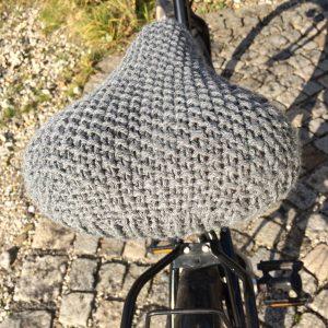 Fahrradsattelüberzug stricken Anleitung diy