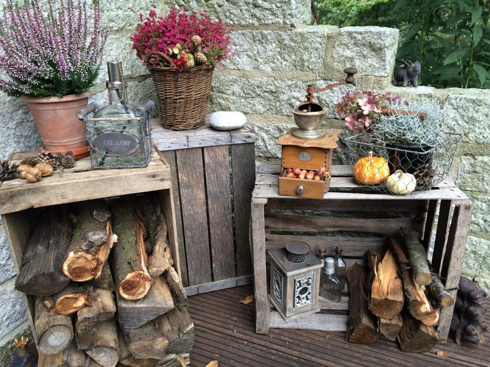Herbst Deko 2016 Vintage Look Holzscheite Glutenfreie Rezepte