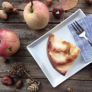 Apfelkuchen mit Marzipan glutenfrei Rezept