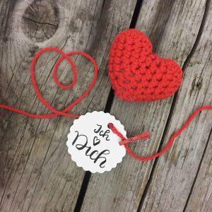 Valentinstag Häkelherz Anleitung