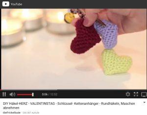 Häkelherz Anleitung Valentinstag