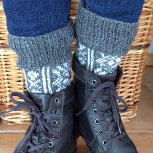 Fair Isle Socken Anleitung stricken Norweger Muster Pure Woll-Lust