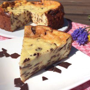 Stracciatella-Kösekuchen glutenfrei