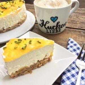 Mango Cheesecake glutenfrei Kuchenliebe