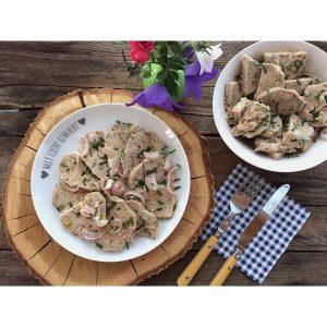 Semmelknödel Essigknödelsalat glutenfrei bayerisch