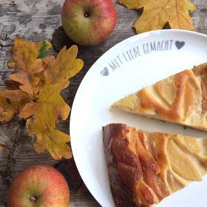 Käsekuchen mit Apfel glutenfrei