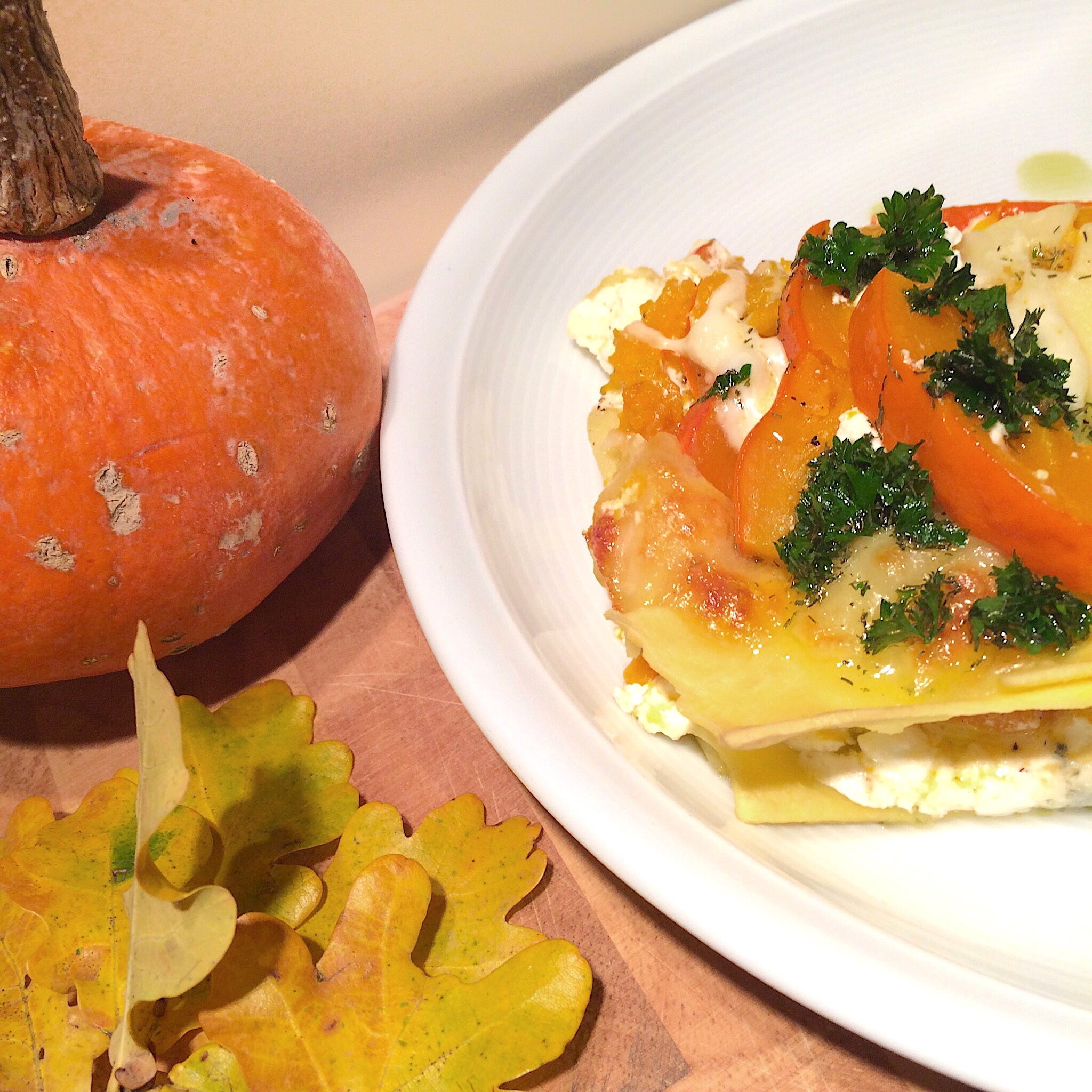 Rezept für Kürbis-Lasagne glutenfrei
