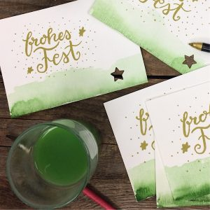 Weihnachtskarten lettern DIY Handlettering