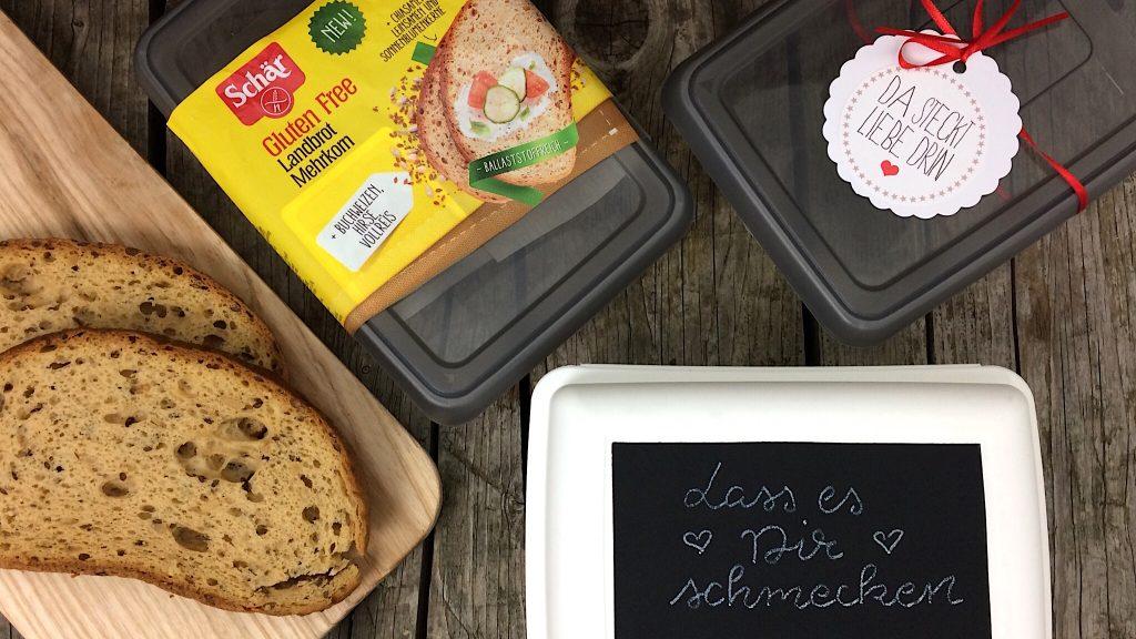 Schär Landbrot glutenfrei DIY Lunchbox Brotzeit
