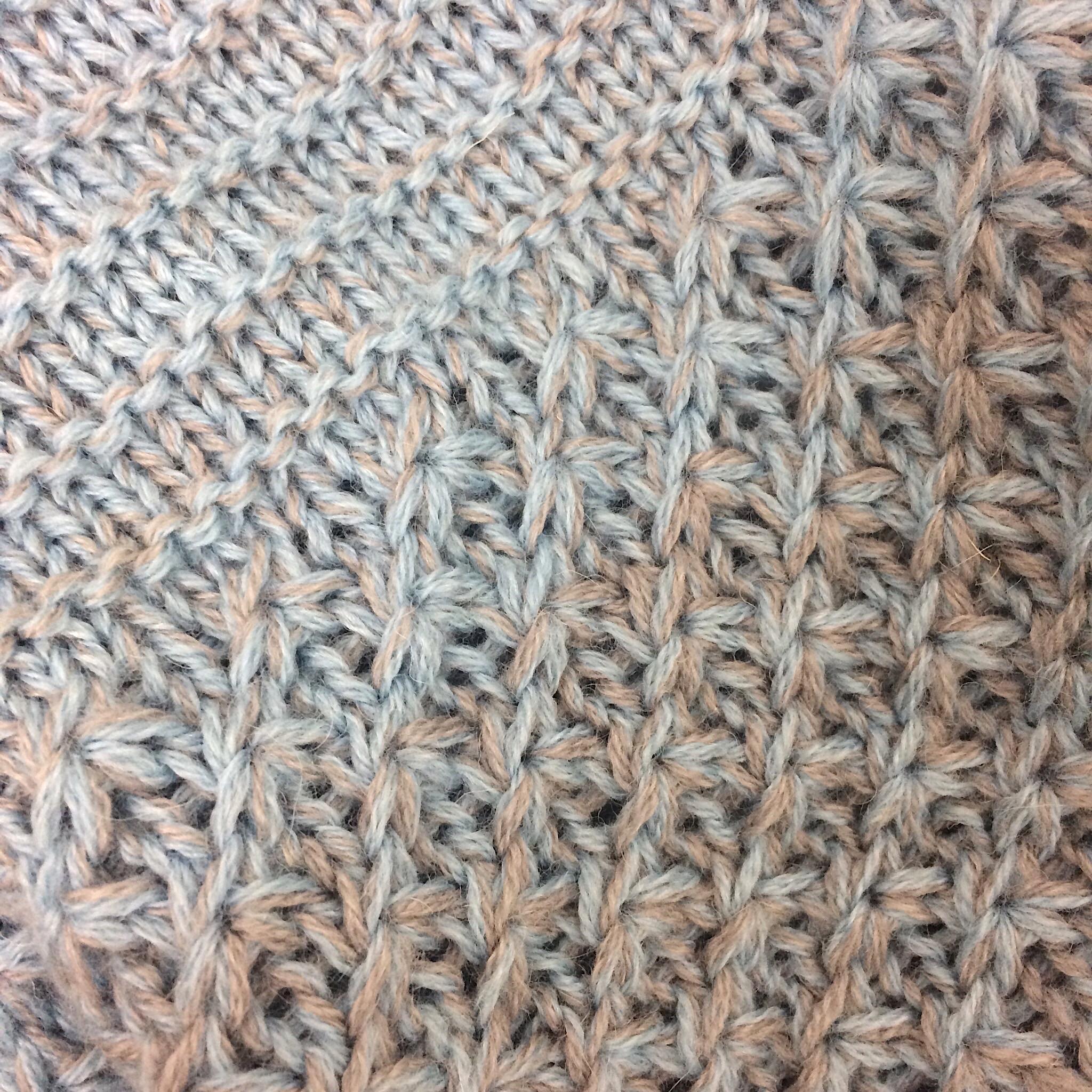Sternenmuster Strickanleitung Dreieckstuch Shades of Alpaca Silk Lana Gross
