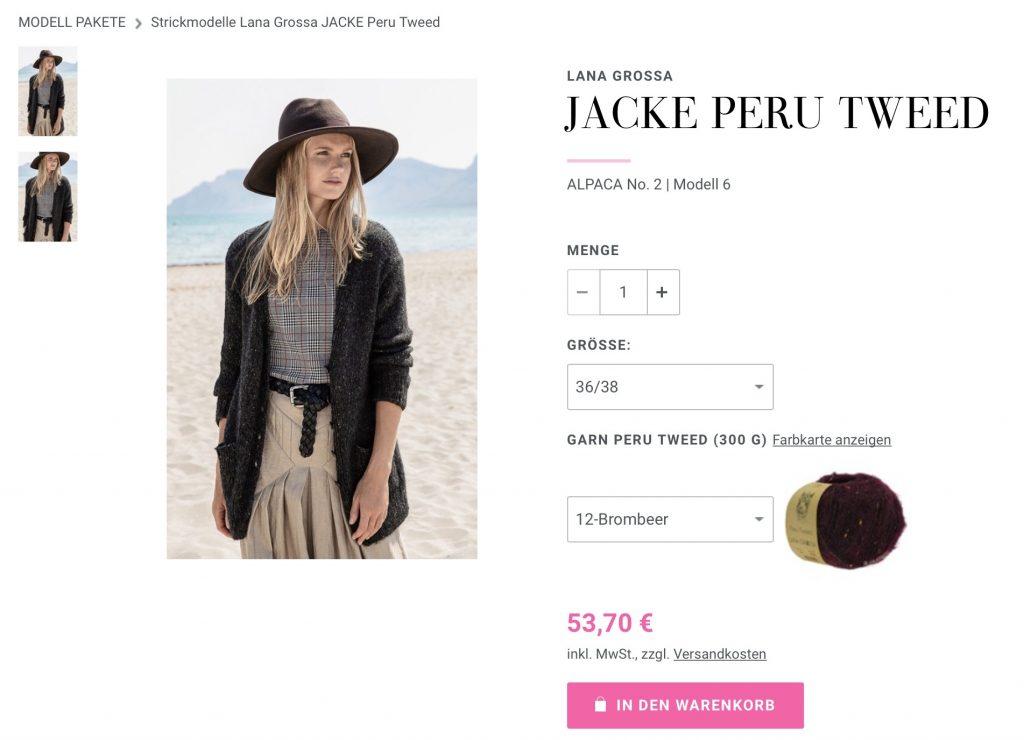 Filati Cardigan Jacke Peru Tweed Lana Grossa