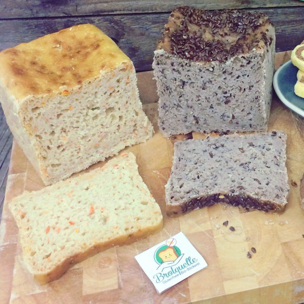 Biobäckerei Brotquelle glutenfrei Shop unverträglich