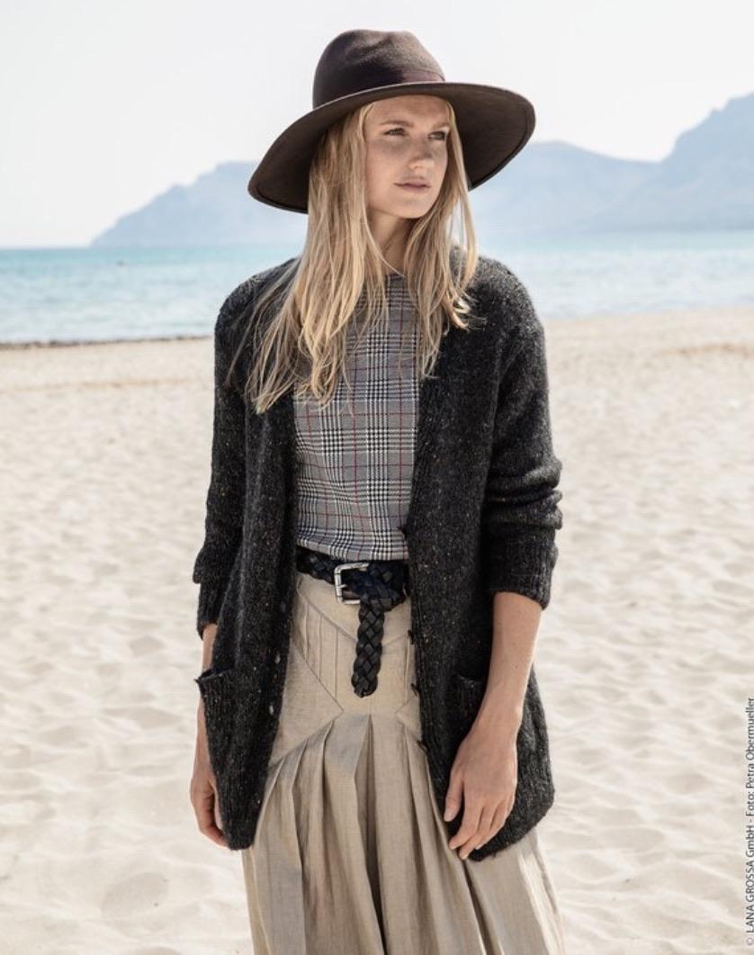 LANA GROSSA Jacke Peru Tweed Strickanleitung glutenfreie