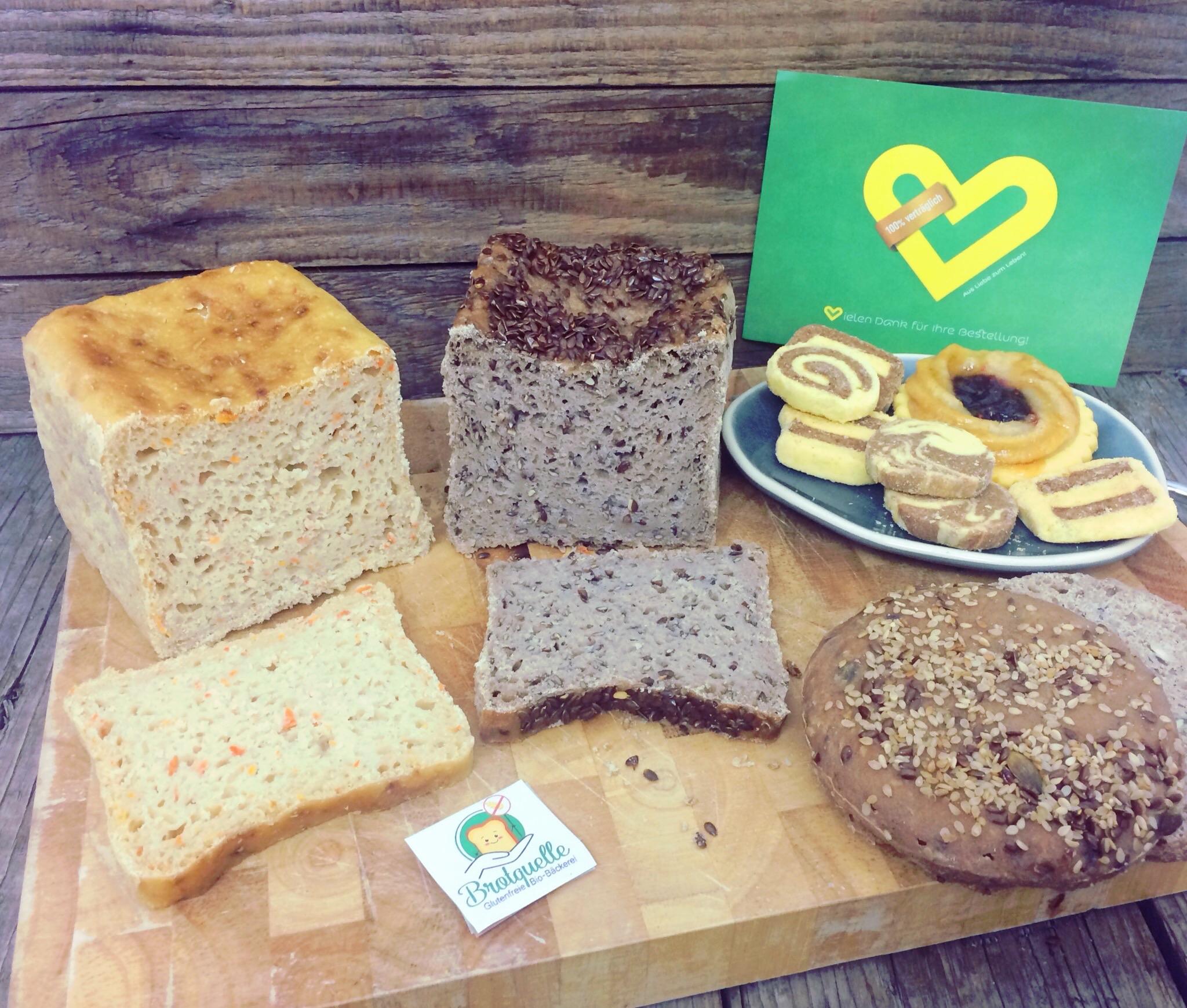 Biobäckere Brotquelle glutenfrei Shop unverträglich