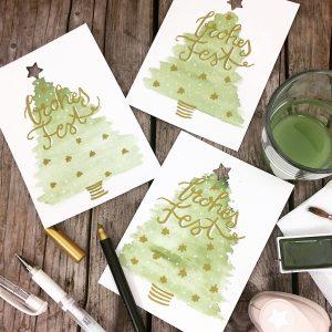Weihnachtskarten gestalten