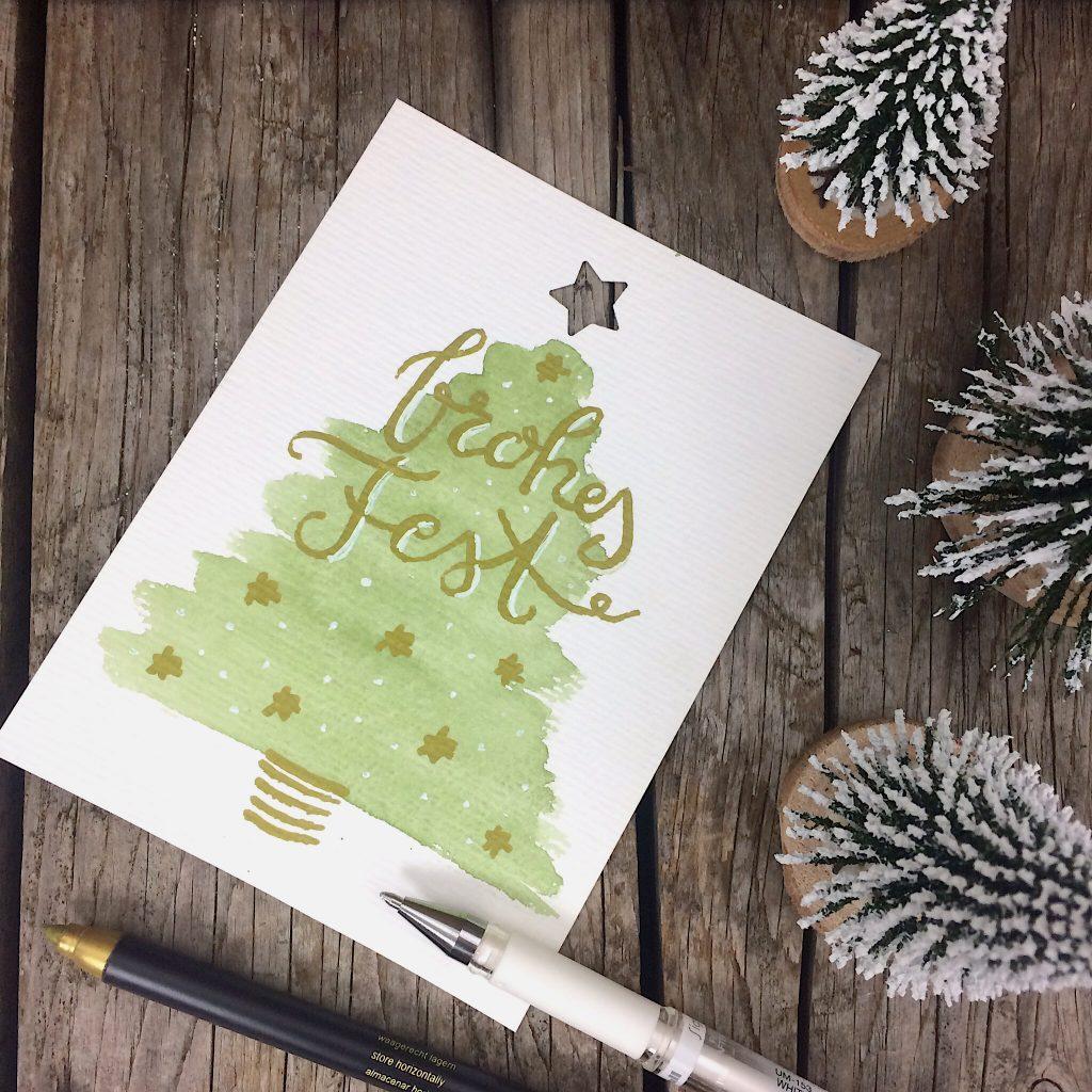Weihnachtskarten lettern
