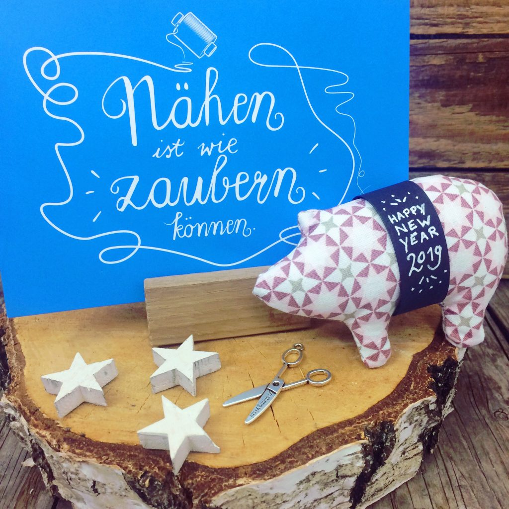 Schweinchen nähen für Silvester Gratisanleitung