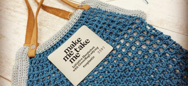 Make me take me Einkaufsnetz häkeln Gratisanleitung no plastic Initiative Handarbeit