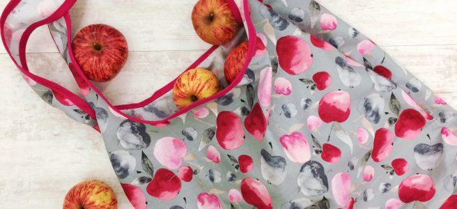 Make me Take me Einkaufstasche nähen Gratisanleitung Mez fabrics Tutti Frutti Collection