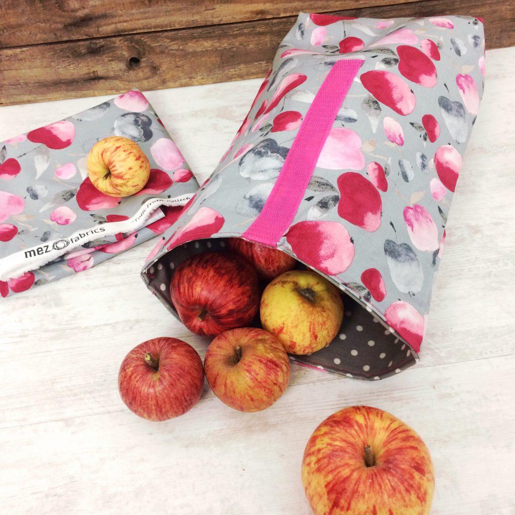Lunchbag nähen Gratisanleitung Mez fabrics tutti frutti collection