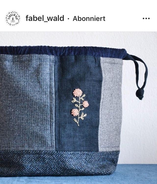 Projekttasche Abies nähen von Fabelwald.at Freebie