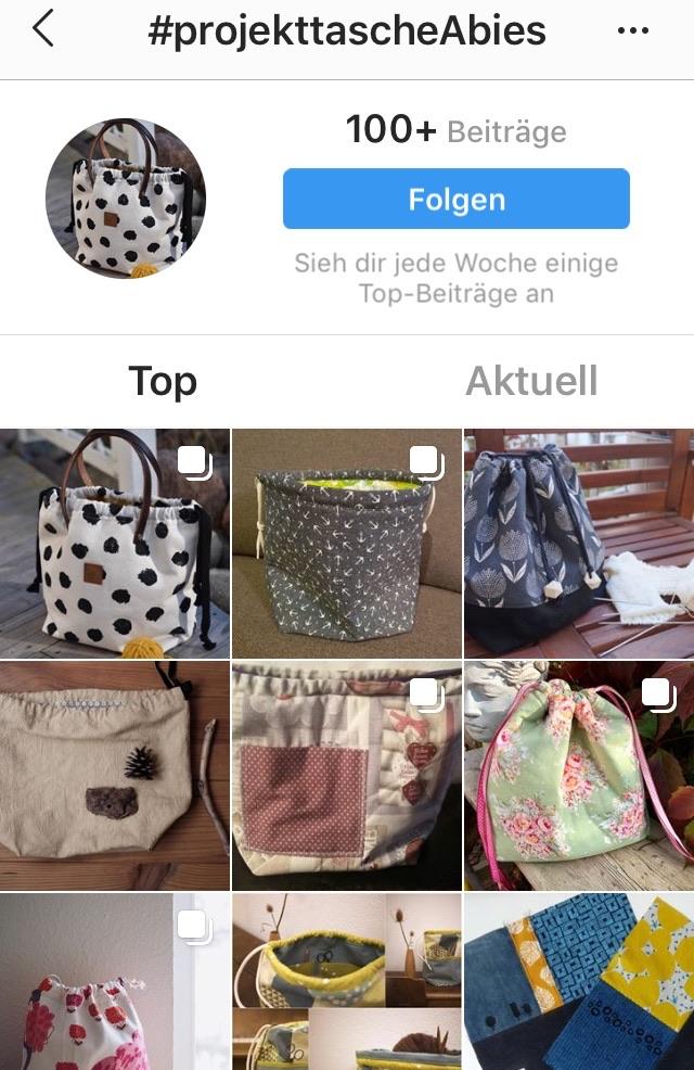 Projekttasche Abies Instagram