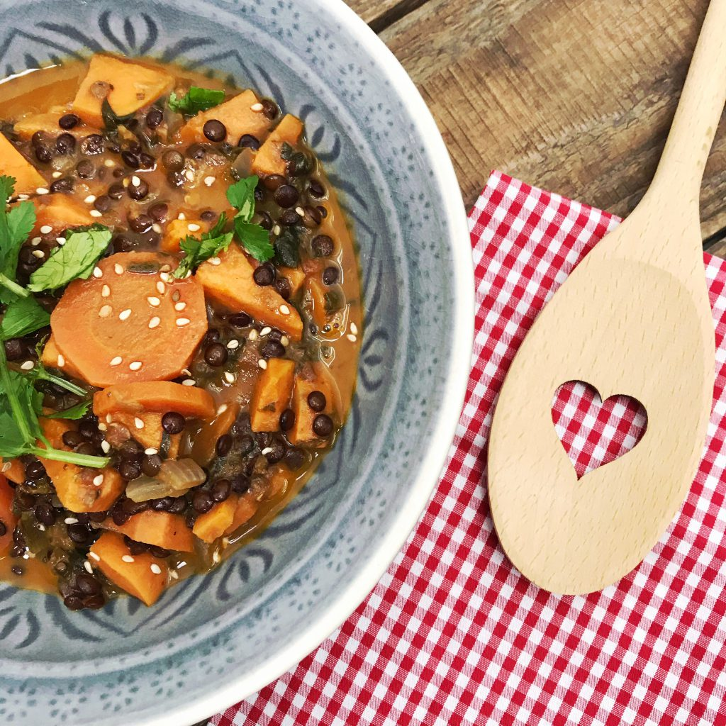 Beluga-Linsen-Curry glutenfrei und vegan Rezept