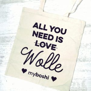 myboshi Leinentasche All you need is Wolle