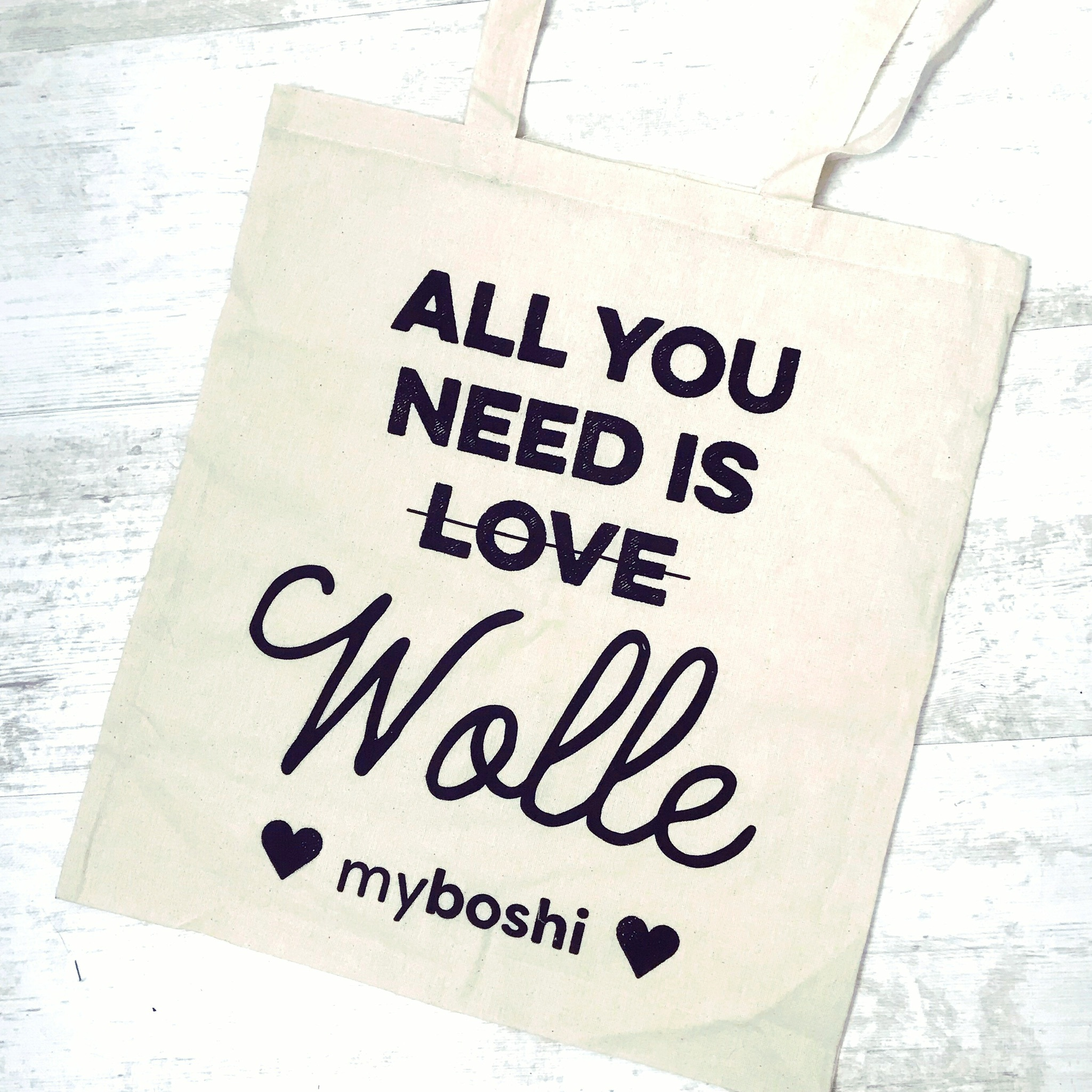 myboshi Leinentasche All you need is Wolle
