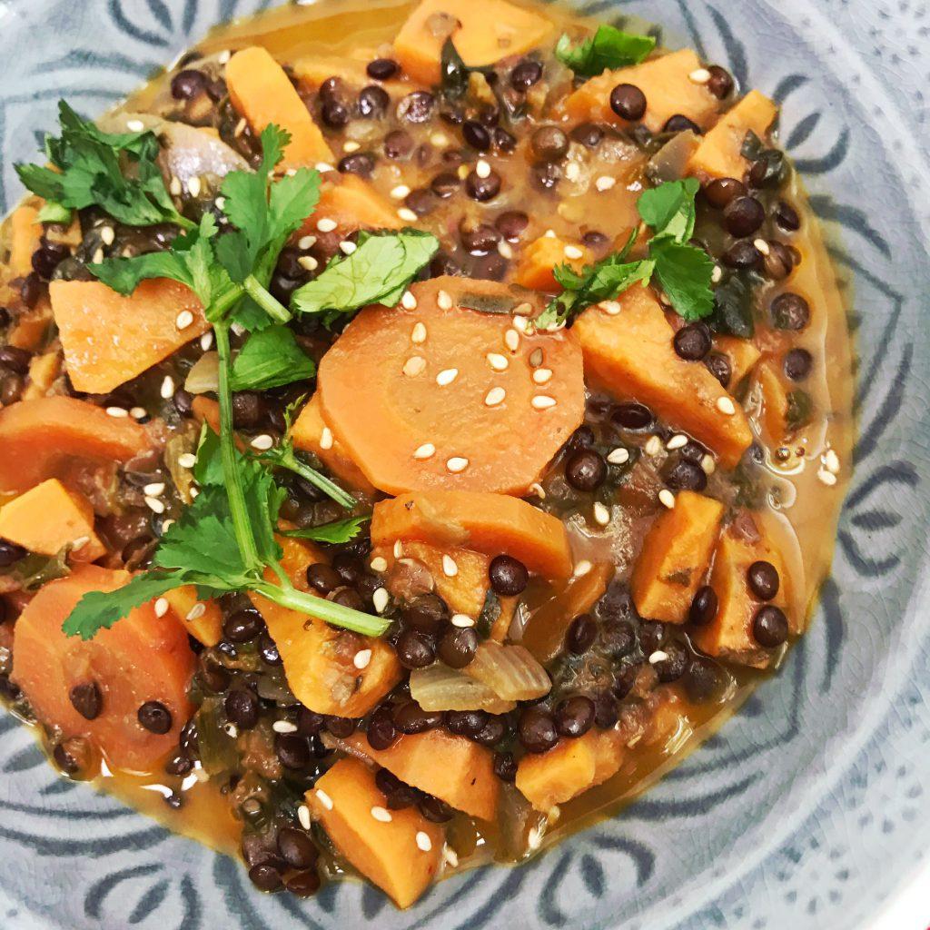 Beluga-Linsen-Curry Rezept glutenfrei und vegan