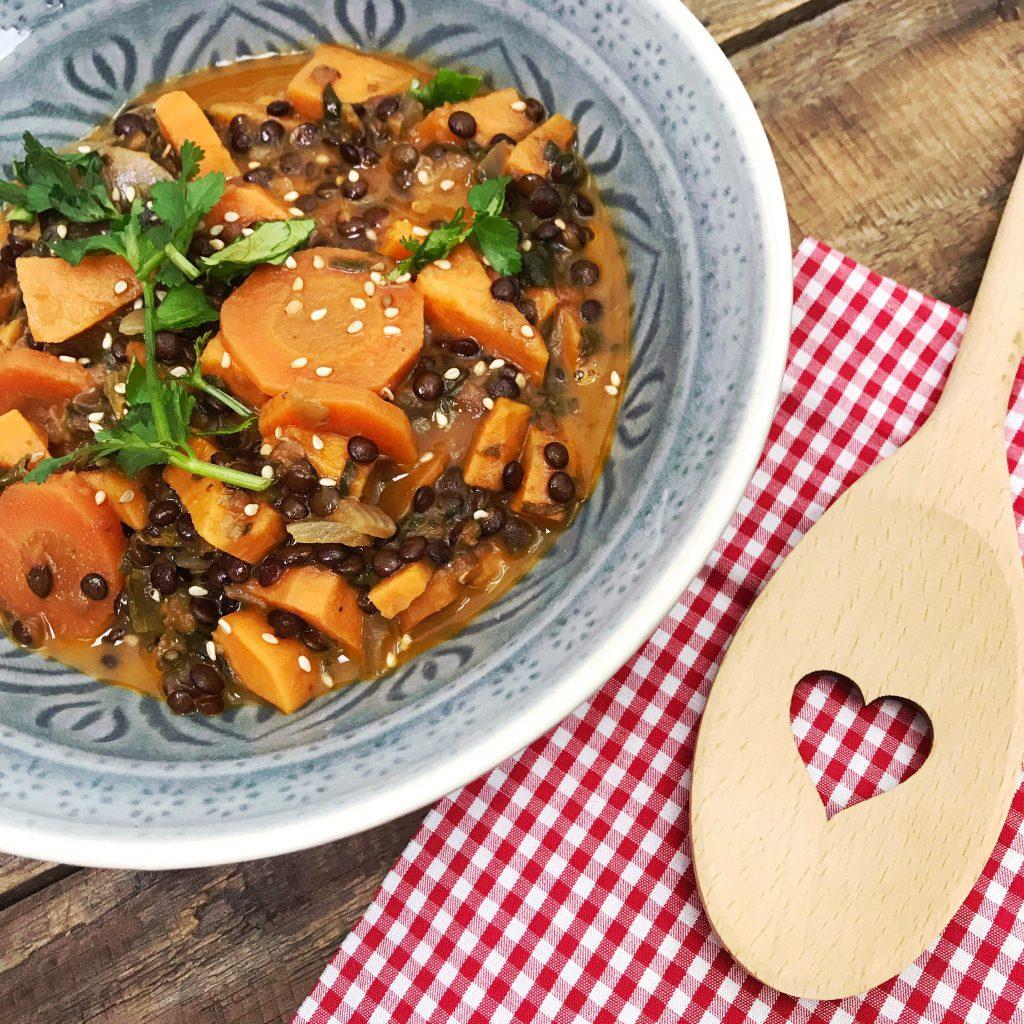 Belugas-Linsen-Curry glutenfrei vegan Rezept